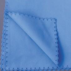Soft-Lasertuch, Microfaser, gelaserter Rand, 40 x 40 cm, blau, 10 Stück